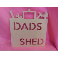 4mm Thick MDf DADS TOOL BAG PLAQUE